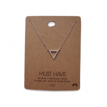 MUST HAVE silver triangle